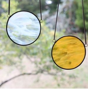 Sun and Moon Stained Glass Suncatchers